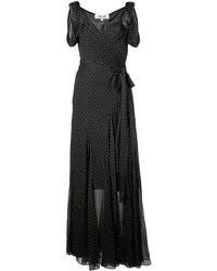Diane von Furstenberg Belinda テクスチャード ラップドレス - ブラック