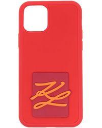 Karl Lagerfeld カーリグラフィ Iphone 11 ケース - レッド