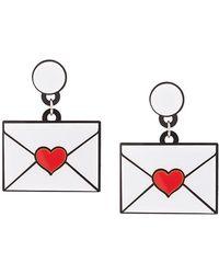 Yazbukey - Heart Envelope Earrings - Lyst
