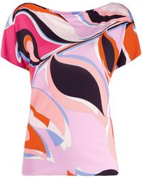 Emilio Pucci プリント Tシャツ - ピンク