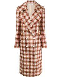 Victoria Beckham - Abrigo de tweed con doble botonadura - Lyst
