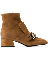 Alberto Gozzi - Chain Embellished Ankle Boots - Lyst
