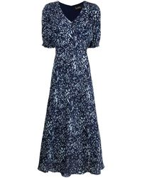 Nicole Miller Evening Garden ドレス - ブルー