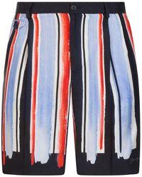 Dolce & Gabbana ストライプ バミューダショーツ - ブルー