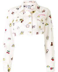 Gcds Укороченная Джинсовая Куртка Hello Kitty - Белый