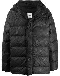 adidas ロゴ パデッドジャケット - ブラック