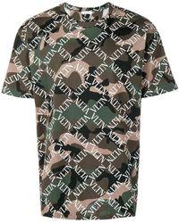Valentino T-shirt VLTN con stampa camouflage - Verde