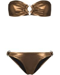 Reina Olga Bandcamp Bandeau Bikini - Brown