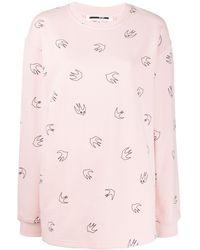 McQ Sweater Met Vogelprint - Roze