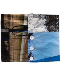 Plan C Photograph-print Belt - Blue