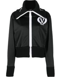 Versace Wide-neck Logo Jacket - Black