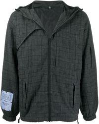 McQ Клетчатая Куртка С Капюшоном - Серый