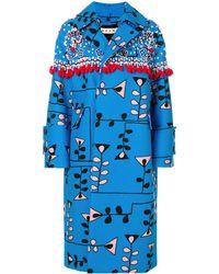 Marni Klassischer Oversized-Mantel - Blau