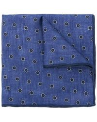 Canali - Flower Spot Pocket Square - Lyst