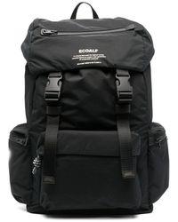 Ecoalf Logo-print Backpack - Black