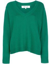 Diane von Furstenberg V-neck Sweater - Green