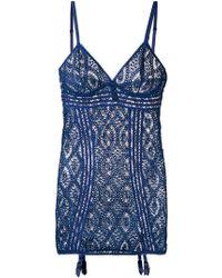 Else - Crochet Slip Dress - Lyst