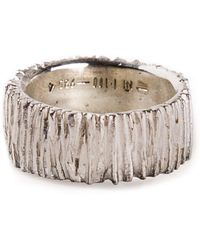 1-100 - Textured Ring - Lyst