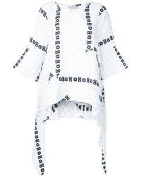Tsumori Chisato Blusa con lazo bordado - Blanco