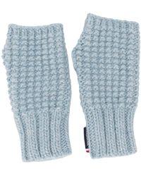 Rossignol Fingerless Knitted Gloves - Blue