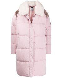 Blumarine Logo Patch Puffer Jacket - Pink