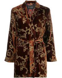 Etro Brocade Print Jacket - Brown