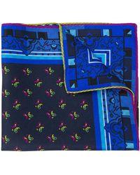 Etro Carré de poche à motif cachemire - Bleu