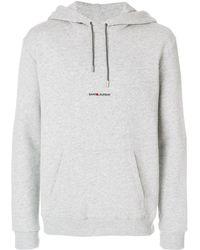 Saint Laurent Толстовка С Логотипом - Серый