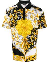 Versace Рубашка Поло С Принтом Barocco Acanthus - Черный