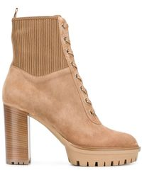 Gianvito Rossi Lace-up Boots - Naturel