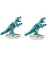 Paul Smith Запонки В Виде Динозавров - Синий