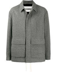 Jil Sander オーバーサイズ シャツジャケット - グレー