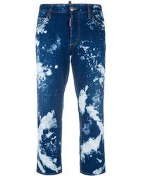 DSquared² ブリーチ加工 ストレートジーンズ - ブルー