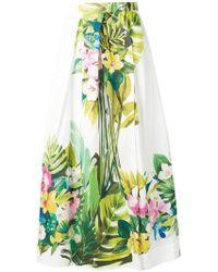 Sara Roka White Cotton Skirt