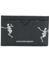 Alexander McQueen Porte-cartes Skeleton - Noir