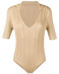 Jacquemus - Ribbed Knit Plunge Neck Body - Lyst