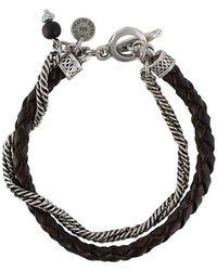 Eleventy - Armband aus Leder - Lyst