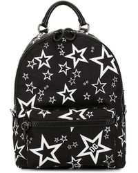 Dolce & Gabbana Mixed Star Print Nylon Vulcano Backpack - Black