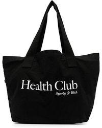 Sporty & Rich Logo-print Tote Bag - Black