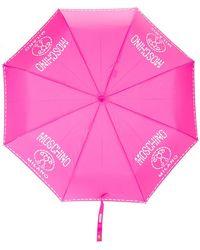 Moschino Parapluies à logo imprimé - Rose