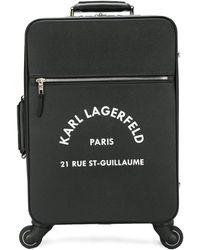 Karl Lagerfeld ロゴ スーツケース - ブラック