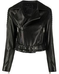 Manokhi London ライダースジャケット - ブラック