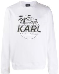 Karl Lagerfeld プリント スウェットシャツ - ホワイト