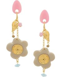 Amir Slama Flower Earrings - Multicolour