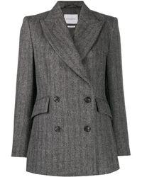 Ballantyne Double Breasted Blazer - Grey