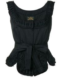 Vivienne Westwood Anglomania - Revolution Ruched Top - Lyst