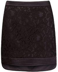 Martha Medeiros 'marescot' Lace Straight Skirt - Black