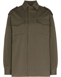 Valentino Vlogo Stitched Shirt Jacket - Green