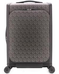 Ferragamo Gancini Print Suitcase - Black