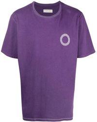 Paura グラフィック ロゴ Tシャツ - パープル